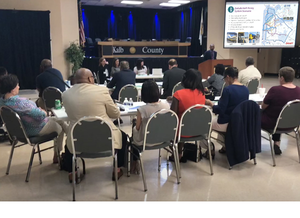 Attendees of the DeKalb County Transit Master Plan Meeting